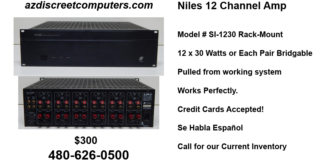 Niles 12 Channel Amplifier